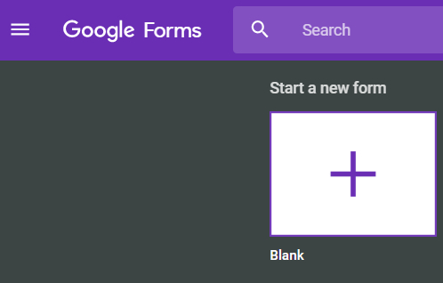 How to survey your customers using google forms namecheap blog to get started go to google forms and create a new form using a blank template as shown below maxwellsz
