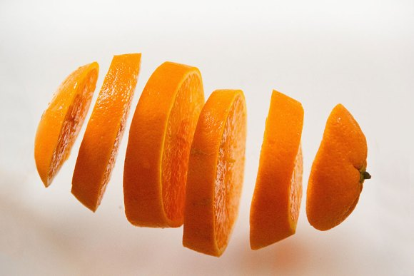 sliced up orange