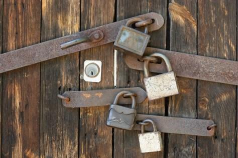 series of padlocks