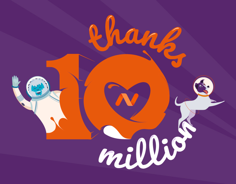 thanks 10 million domains logo