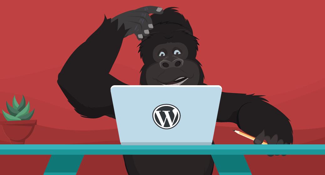 Gorilla using WordPress