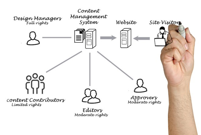 content management system graphic