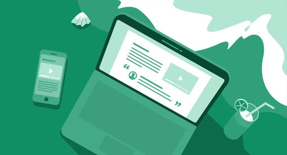 WordPress blog on laptop