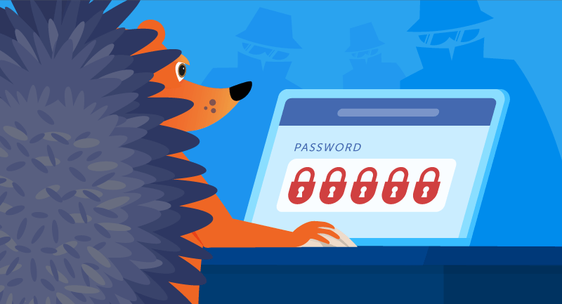 hedgehog setting a strong password