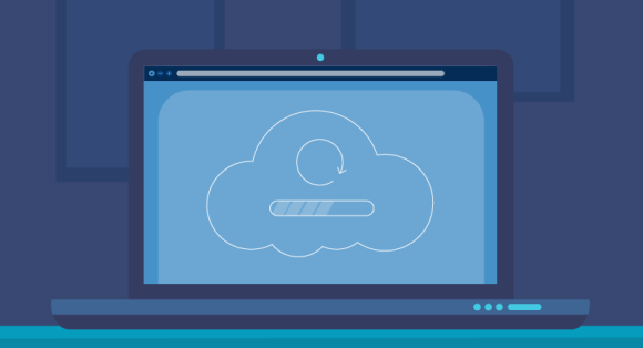 depiction of uploading data to cloud