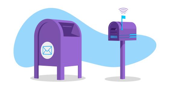 illustration of postal mail