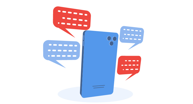 mobile phone with multiple conversations