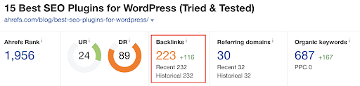 15 best SEO plugins - backlinks