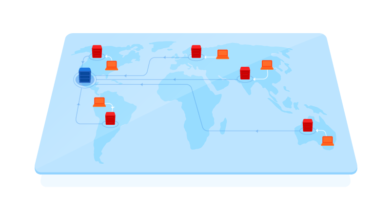graphic of data centers