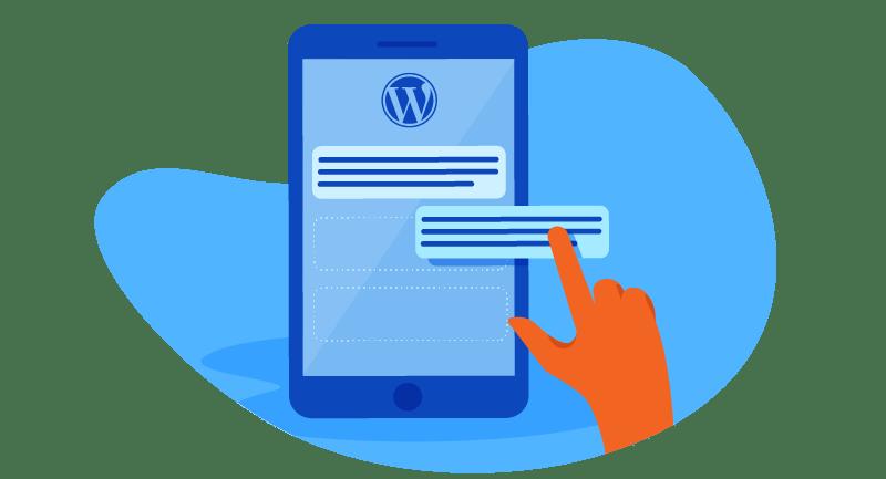 Using WordPress on device