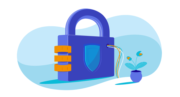 Padlock connected to computer network