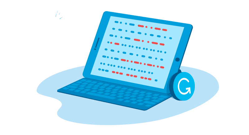 checking content with Grammarly