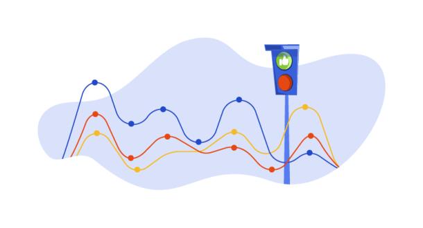 traffic light and data stream