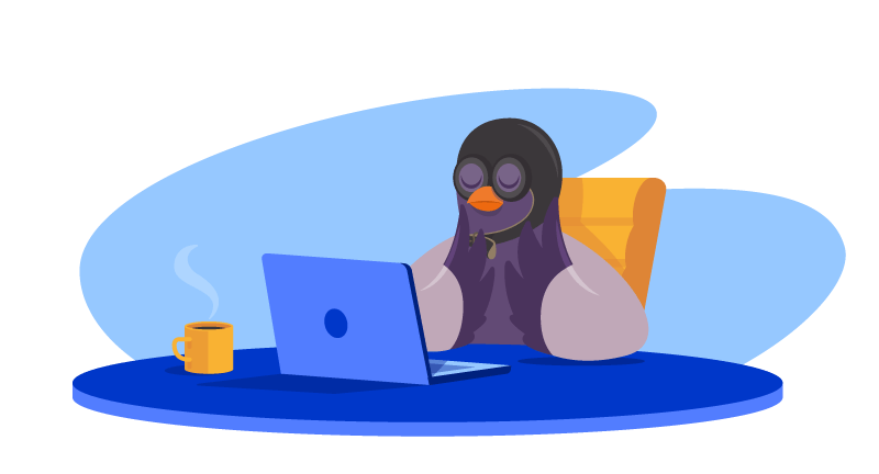 Pigeon thinking about email campaign