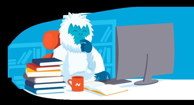 Yeti pondering book ideas
