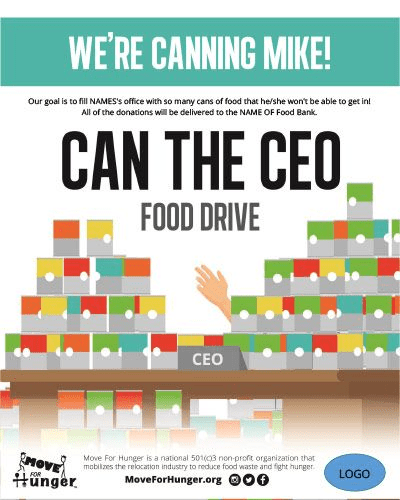 MoveForHunger infographic for canned food drive