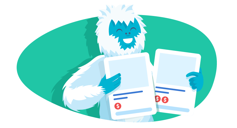 Yeti with different Patreon support tiers