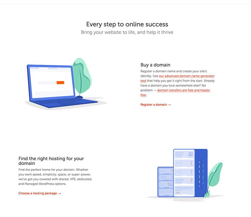 Namecheap homepage - online success