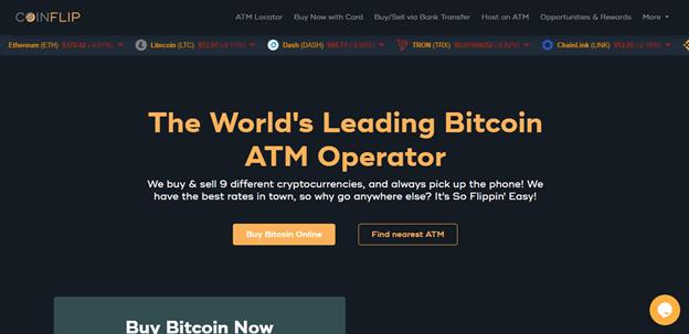 screenshot of coinflip.tech