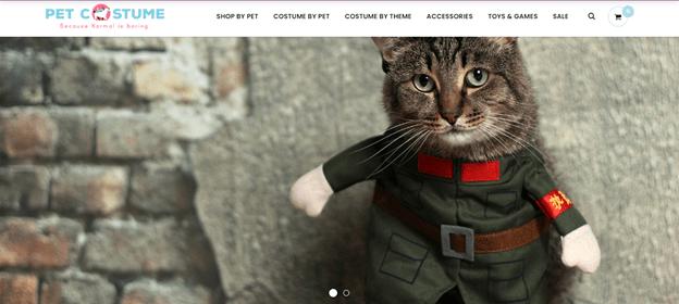 screenshot of petcostume.store