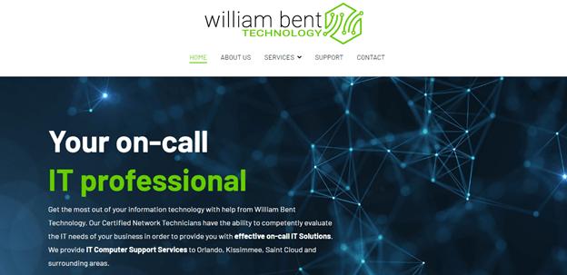 screenshot of williambent.tech