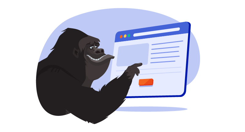Gorilla choosing .com domain