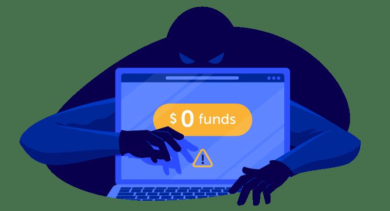 hacker accessing bitcoins