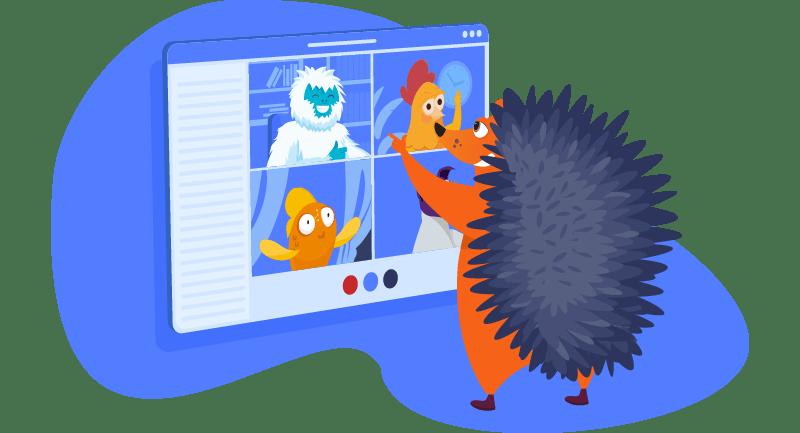 hedgehog on a zoom call