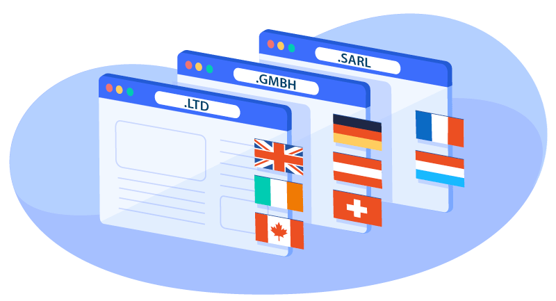 illustration for international corporate TLDs