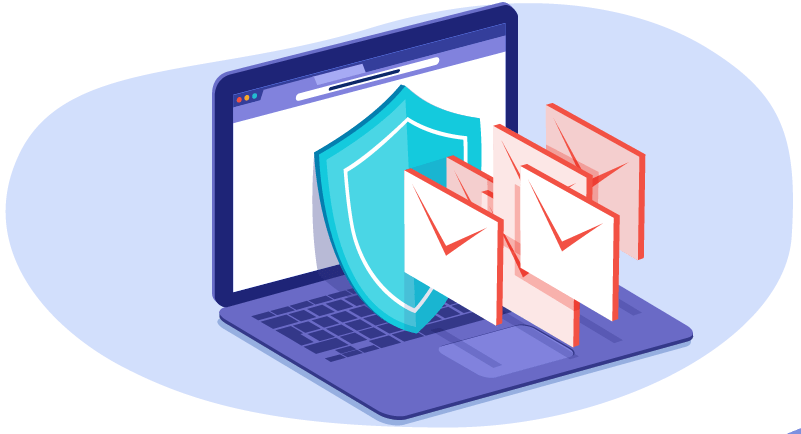 shield with emails illustrating anti-spam plugins