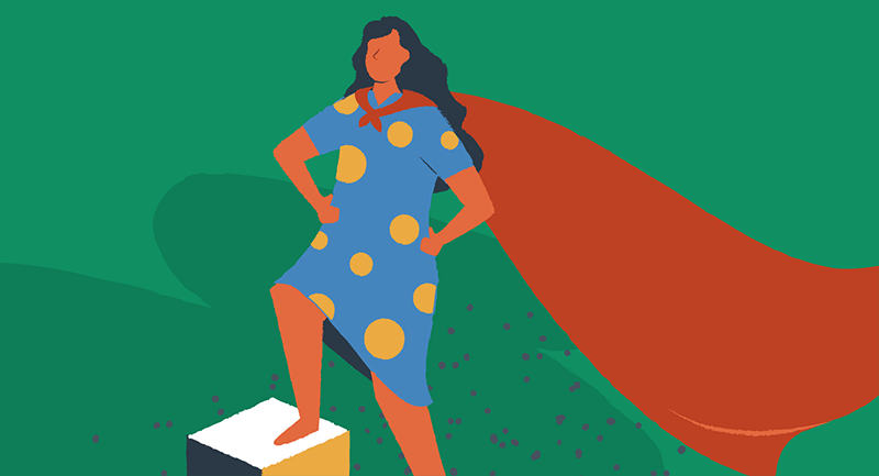 woman wearing a cape