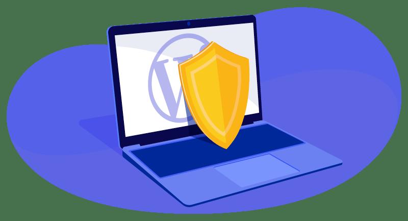 shield on WordPress website