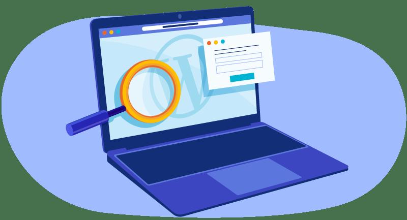 searching portfolio in WordPress