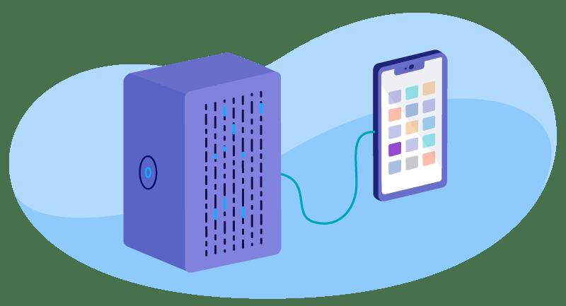 illustration of dedicated server hosting