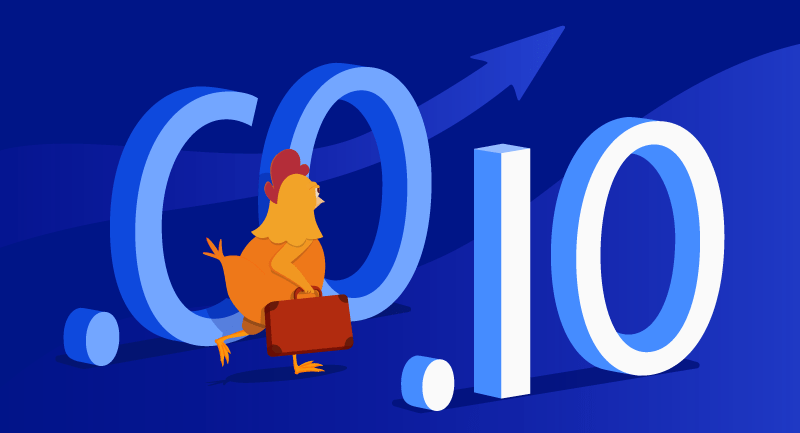 Hero image of .CO and .IO domains surge in popularity