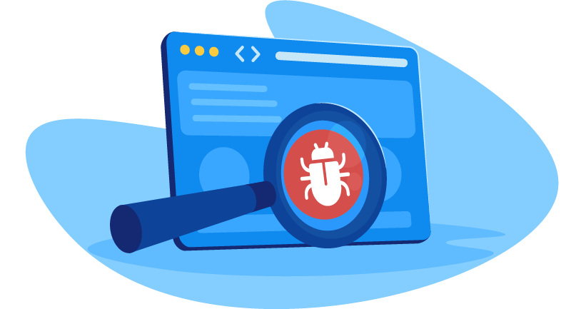 searching for bugs on a website