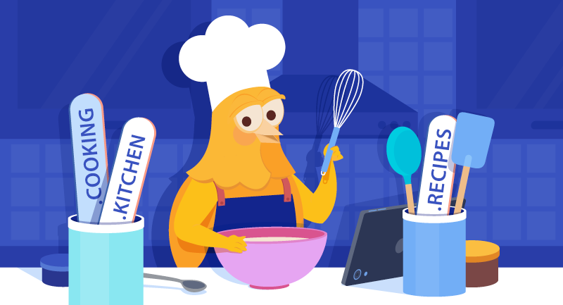 Hero image of Tasty domains for foodies