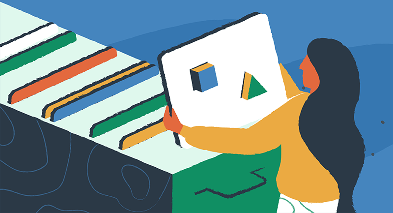 Filing blocks into folders