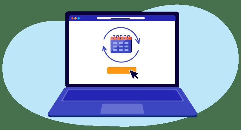 laptop demonstrating renewing in advance