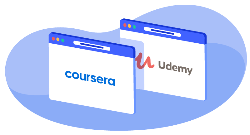 coursera and udemy logos