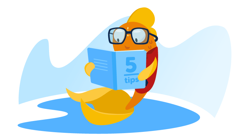 Fish reading 5 tips book