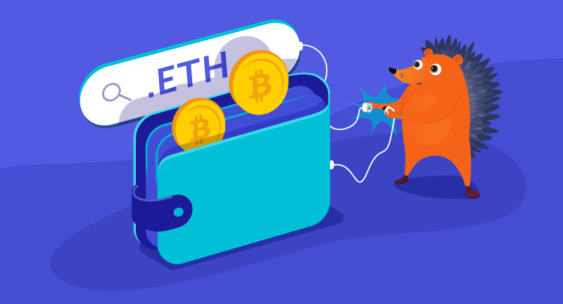 Hero image of Use any domain as your cryptocurrency wallet