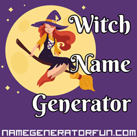 Get your own witch name from the witch name generator!