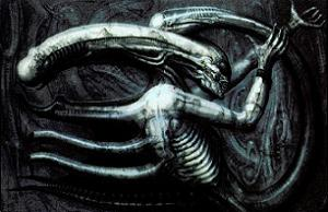 Necronom IV, Giger's surrealist painting that ...