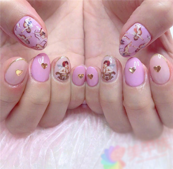 2021 Pink Nail Pictures
