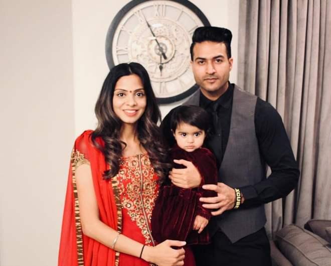 Guru Mann with his wife Harman Mann and daughter Zia Kaur