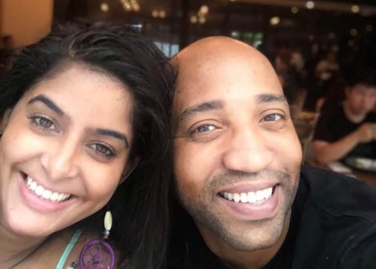 Anisha Dixit and her Husband