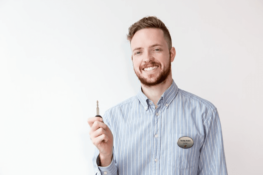 Professional with Silver Name Badge
