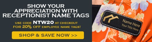 Get 20% Off with Code NTW20, Custom Faux Leather Name Tag