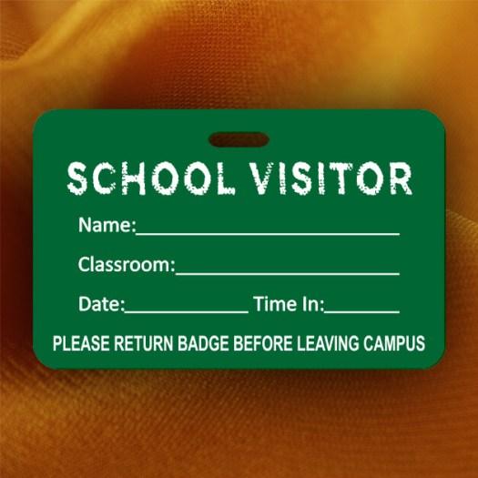 Chalkboard School Visitor Badge